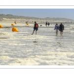 Ecume de mai sur la plage de Quend-Plage