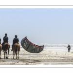 Gendarmes sur les  chevaux de la garde républicaine