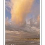 La plage de Quend-Plage en fin de journée