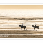 Equitation sur la plage de La Mollière d'Aval près de Cayeux-sur-mer