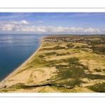 les dunes de la Slack, Ambleteuse et son fort Vauban (vue aérienne)