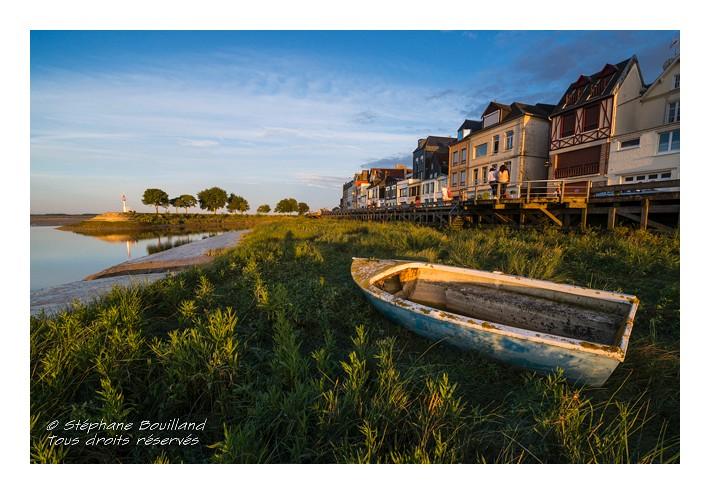 Saison : été - Lieu : Saint-Valery-sur-Somme, Baie de Somme, Somme, Picardie, France.
