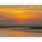 Lever de soleil sur la baie de Somme près de Saint-Valery