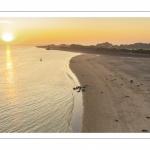 Lever de soleil sur le Hourdel en Baie de Somme