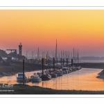 Aube sur le port du Hourdel en Baie de Somme