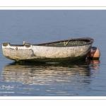 Barque amarée le long des quais de Saint-Valery