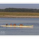Pirogue et kayak en baie de Somme