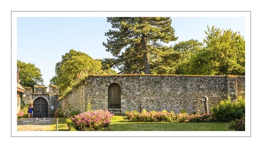 Les hauteurs de la vieille ville médiévale et la porte Guillaume