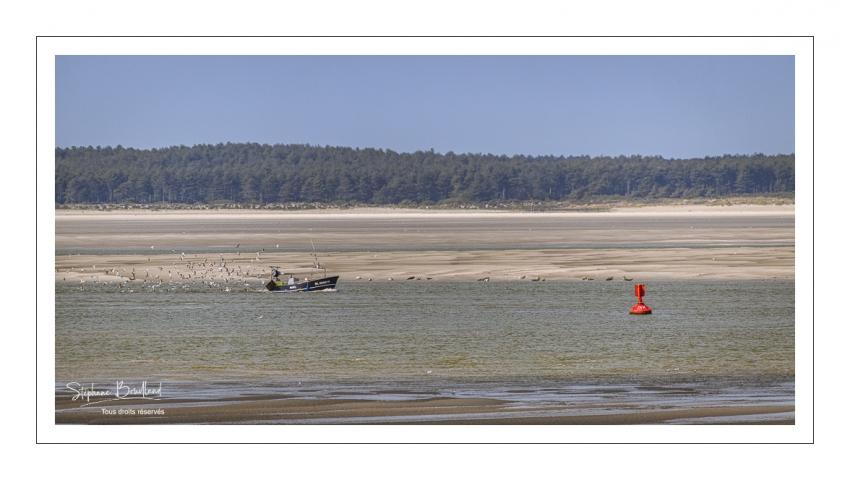 bateau de pêcheur dans le chenal de la Somme