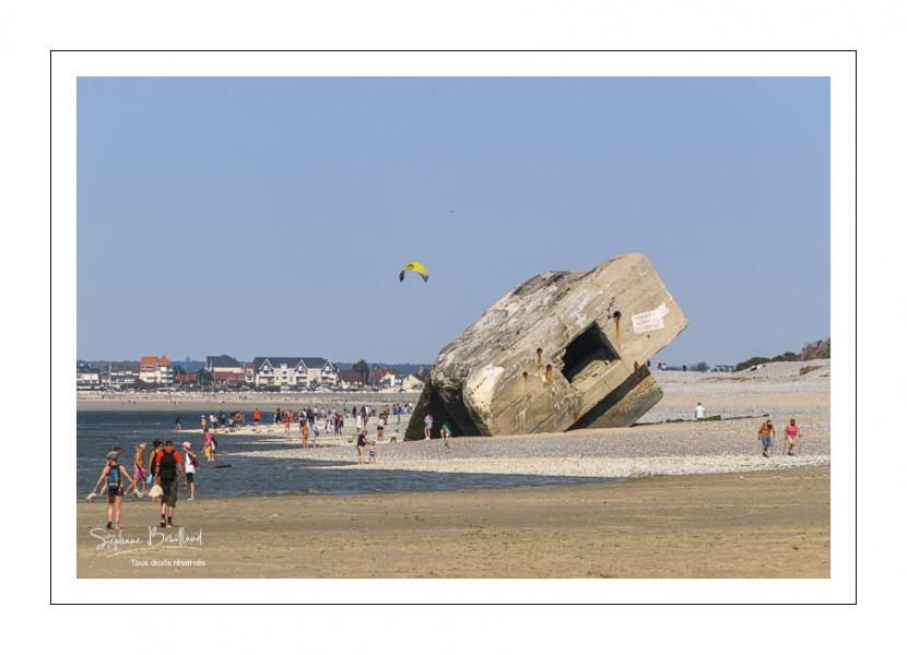 Bancs de sable au Hourdel transformés en plage