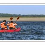 Les Canoë-kayak dans le chenal de la Somme