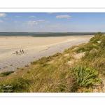 Promeneurs sur les bancs de sable au Hourdel