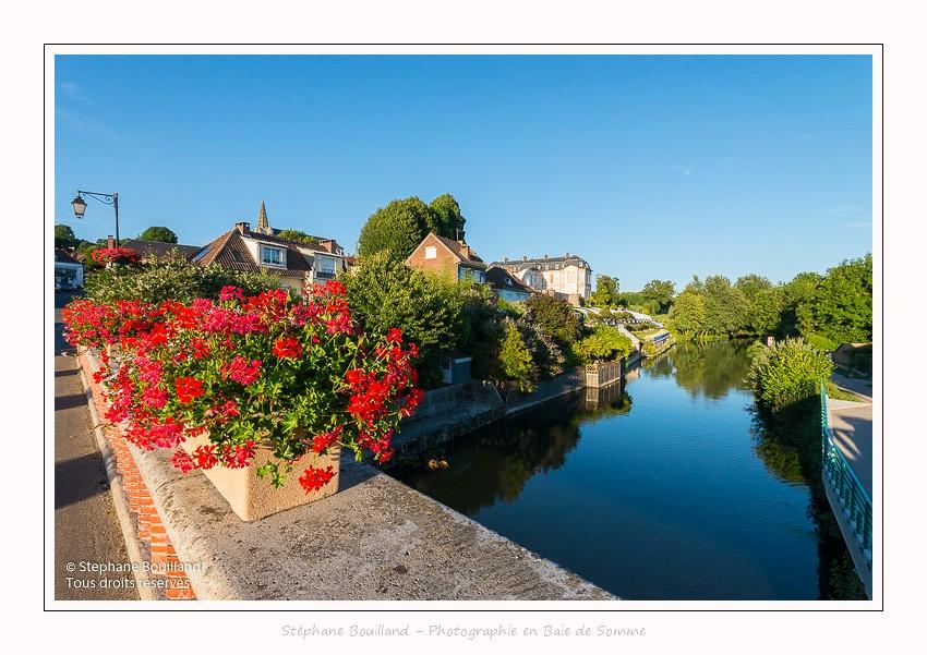 Saison : été - Lieu : Vallée de la Somme, Long, Somme, Picardie, Hauts-de-France,France