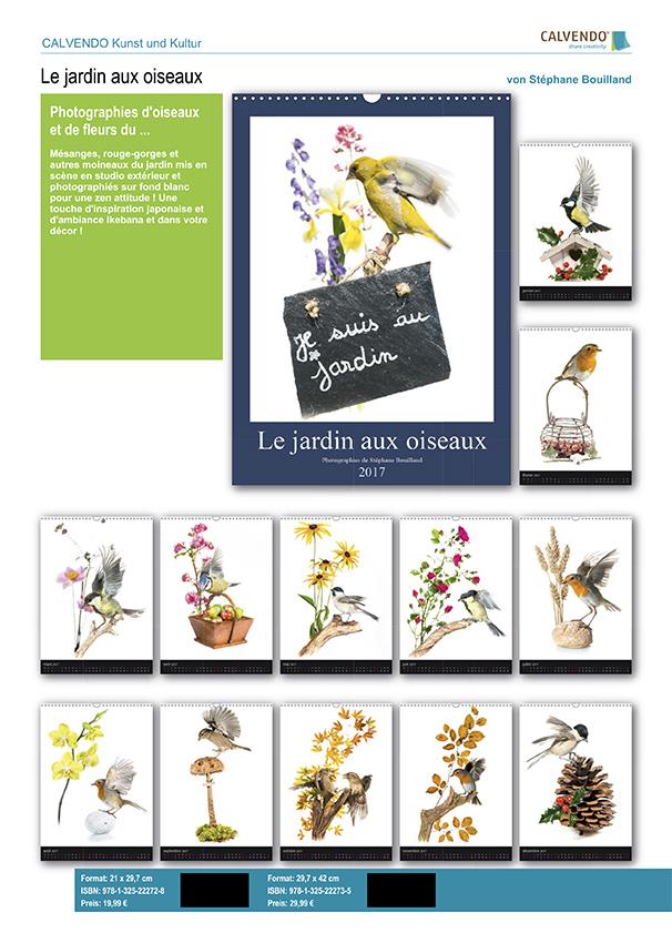 "Calendrier ""Jardin d'oiseaux"" 2017"