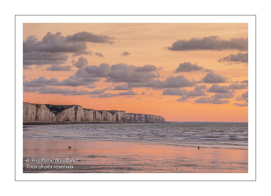 Crépuscule sur la plage de Ault