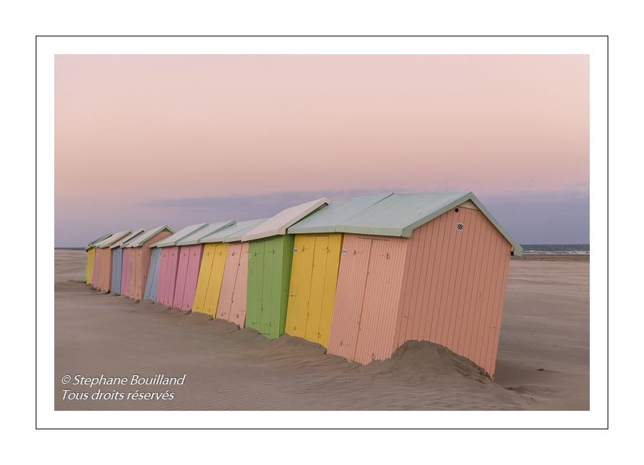 Les cabines de plage à Berck-sur-mer