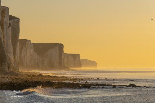 Ault, crépuscule au pied des falaises (Côte Picarde)